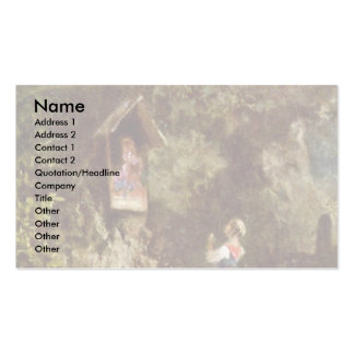 Betendes Peasant Girl In The Woods Business Card