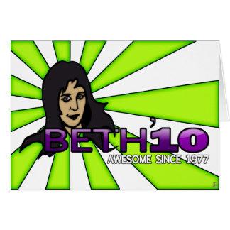 Beth'10, tarjeta de felicitación