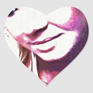 Beth Clews Glamour Model Heart Sticker