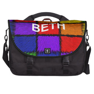 BETH ( female names ) Laptop Bags