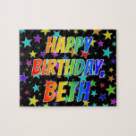 "[ Thumbnail: ""Beth"" First Name, Fun ""Happy Birthday"" Jigsaw Puzzle ]"