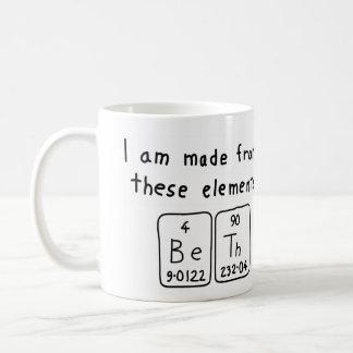 Beth periodic table name mug