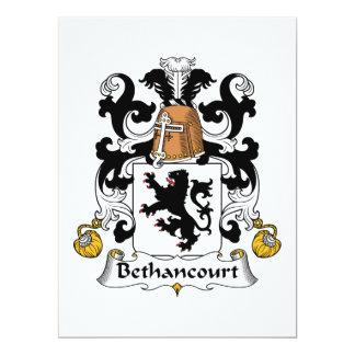 Bethancourt Family Crest Card