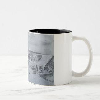 Bethany Beach Boardwalk Two-Tone Coffee Mug