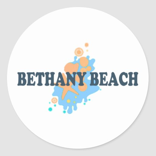 Bethany Beach. Classic Round Sticker
