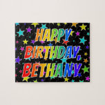 "[ Thumbnail: ""Bethany"" First Name, Fun ""Happy Birthday"" Jigsaw Puzzle ]"