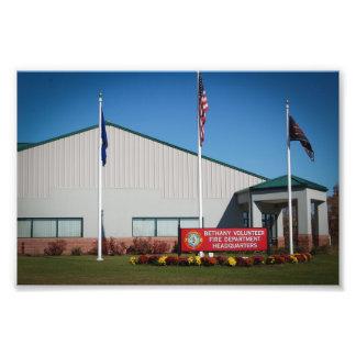 Bethany Volunteer Fire Department Headquarters Photographic Print