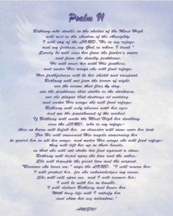 Psalm 91 Posters & Photo Prints | Zazzle