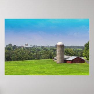 bethel farm near woodstock 69' site poster