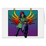 Bethel The Biker Fairy, greeting card