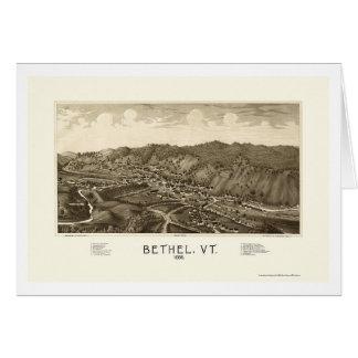 Bethel, VT Panoramic Map - 1886 Greeting Card
