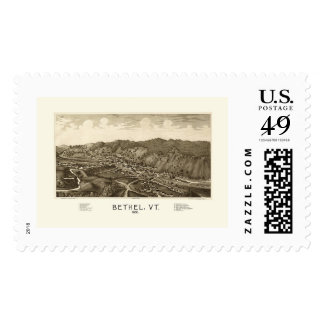 Bethel, VT Panoramic Map - 1886 Postage Stamps