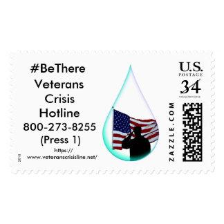 #BeThere Veteran Suicide Awareness Postage Stamp