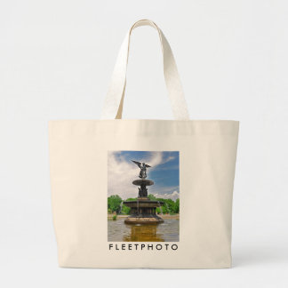 "Bethesda ""Angel of the Waters"" Central Park, NYC Large Tote Bag"