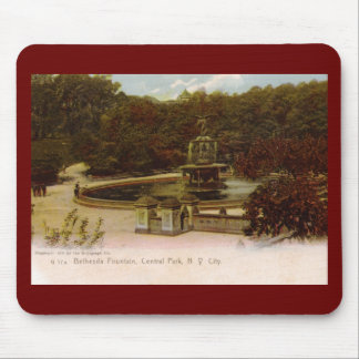 Bethesda Fountain, Central Park, New York 1905 Vin Mouse Pad