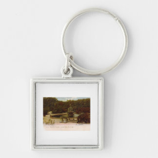 Bethesda Fountain, Central Park, New York 1905 Vin Silver-Colored Square Keychain