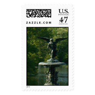 Bethesda Fountain, Central Park Postage