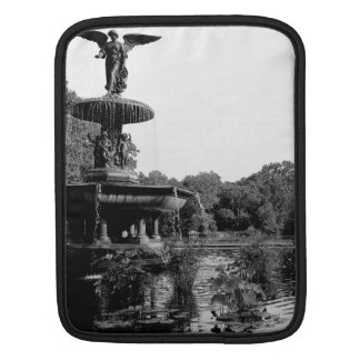 Bethesda Fountain in Central Park Photo Sleeve For iPads