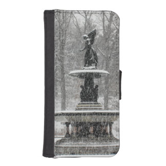 Bethesda Fountain in Central Park Photo Phone Wallet Case