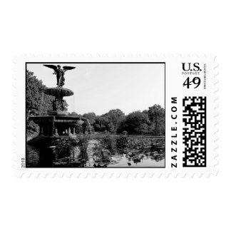 Bethesda Fountain in Central Park Photo Stamp