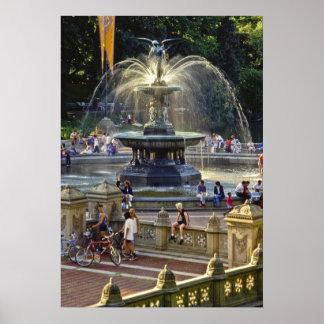 Bethesda Fountain NYC - Poster
