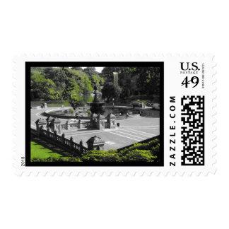 Bethesda Fountain Stamp