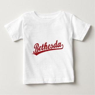 Bethesda script logo in red infant t-shirt