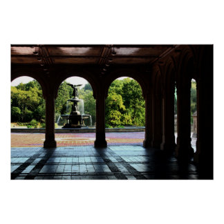 Bethesda Terrace in New York Central Park Photo Poster