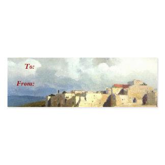 Bethlehem Gift Tag Business Card