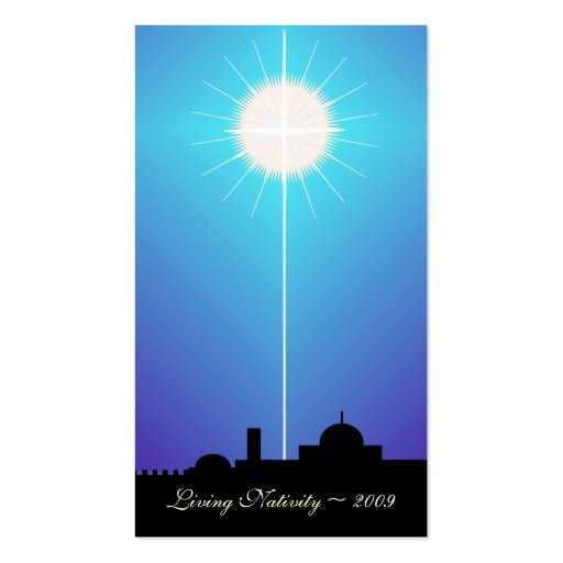 Bethlehem Living Nativity Card ~ 2009 Double-Sided Standard Business Cards (Pack Of 100)