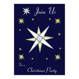 Bethlehem Night Shining Stars Invitation
