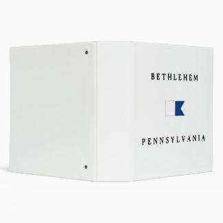 Bethlehem Pennsylvania Alpha Dive Flag Binder