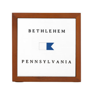 Bethlehem Pennsylvania Alpha Dive Flag Desk Organizer
