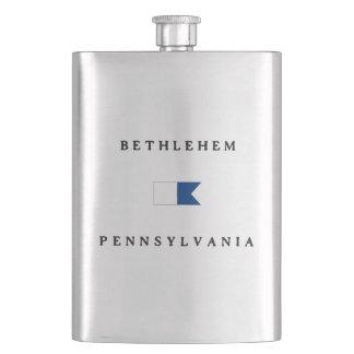 Bethlehem Pennsylvania Alpha Dive Flag Hip Flask