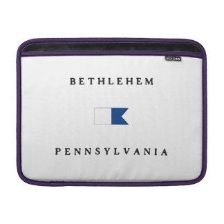 Bethlehem Pennsylvania Alpha Dive Flag Sleeves For MacBook Air