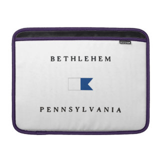 Bethlehem Pennsylvania Alpha Dive Flag MacBook Air Sleeves