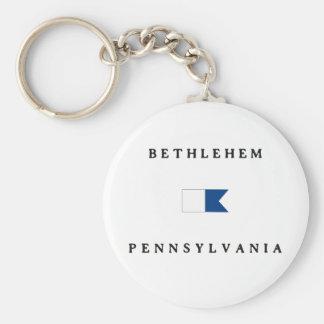 Bethlehem Pennsylvania Alpha Dive Flag Key Chains