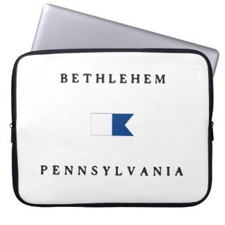 Bethlehem Pennsylvania Alpha Dive Flag Laptop Computer Sleeve