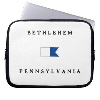 Bethlehem Pennsylvania Alpha Dive Flag Computer Sleeve