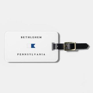 Bethlehem Pennsylvania Alpha Dive Flag Luggage Tags