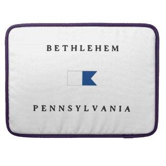 Bethlehem Pennsylvania Alpha Dive Flag MacBook Pro Sleeve
