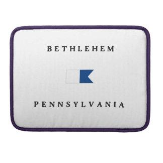 Bethlehem Pennsylvania Alpha Dive Flag Sleeve For MacBooks