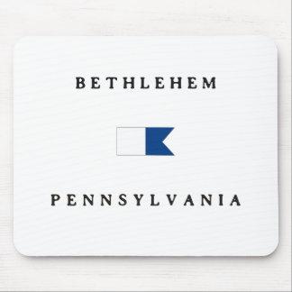 Bethlehem Pennsylvania Alpha Dive Flag Mousepads