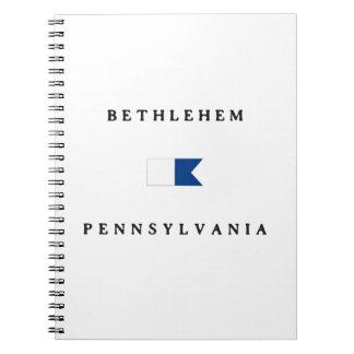 Bethlehem Pennsylvania Alpha Dive Flag Note Book