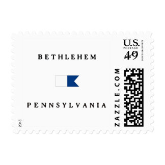 Bethlehem Pennsylvania Alpha Dive Flag Postage Stamp