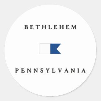 Bethlehem Pennsylvania Alpha Dive Flag Sticker