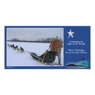 Bethlehem Star over desert Photo Card