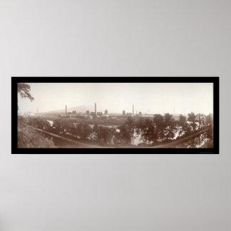 Bethlehem Steel trabaja la foto 1896 Póster