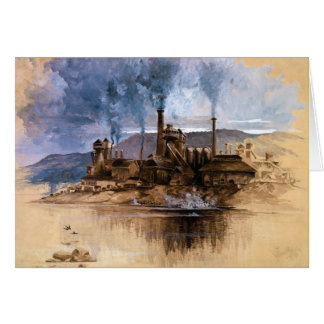 Bethlehem Steel Works by Joseph Pennell Card