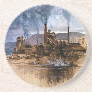 Bethlehem Steel Works by Joseph Pennell Coasters